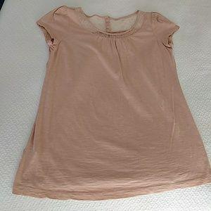 Lacey detail tee shirt